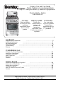 Danby DR299BLSGLP Owner's use and care manual - Page 1