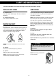 Danby 4511 Owner's use and care manual - Page 7