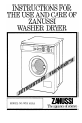 Zanussi WDJ 1013/A Instructions for use and care manual - Page 1