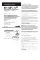 Datexx DESK PILOT II DF-551 Operation manual - Page 1