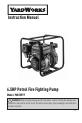 Yard Works YW65PFF Instruction manual - Page 1