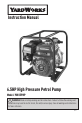Yard Works YW65PHP Instruction manual - Page 1