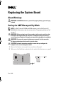 Dell E6400 - Latitude - Core 2 Duo 2.53 GHz System board replacement - Page 1