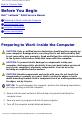 Dell d400 - Latitude - Pentium M 1.3 GHz Service manual - Page 4
