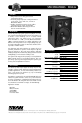 EAW FR153z Specifications - Page 1