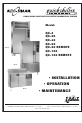 Alto-Shaam QC-3 Installation & operation manual - Page 1