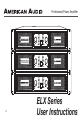 American Audio ELX Series User instructions - Page 1