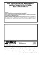Smeg SE32CX Use, installation and maintenance instructions - Page 1