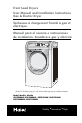 Haier CHDE5000AW User manual and installation instructions - Page 1