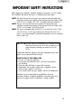 Haier CHDE5000AW User manual and installation instructions - Page 3