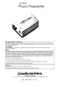 Audio Technica AT-PEQ3 Specifications - Page 1