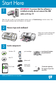 HP 4315 - Officejet All-in-One Color Inkjet Start here manual - Page 1