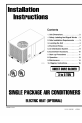 ICP PAB036N1HA Installation instructions manual - Page 1
