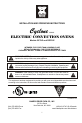 Bakers Pride BCO-E1 Install and operation instructions - Page 1