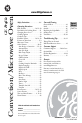 GE c-|10E Owner's manual - Page 1