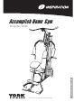 York Fitness Inspiration 50026 Instruction manual - Page 1