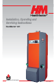 ACV HeatMaster 201 Installation, operating and servicing instructions - Page 1