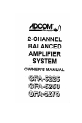 Adcom GFA-5225 Owner's manual - Page 1