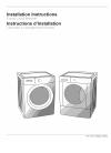 crosley cfw4500kw0 installation instructions manual installation  instructions manual (24 pages)