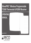 Peco TA170-001 Manuals and User Guides, Thermostat Manuals