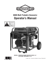 Briggs & Stratton BSQ 1000 Manuals and User Guides, Portable