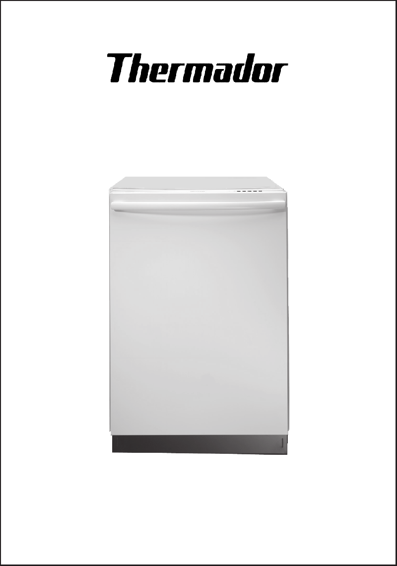 Thermador Dw44fi Dishwasher Installation Manual Pdf View Manual Guide