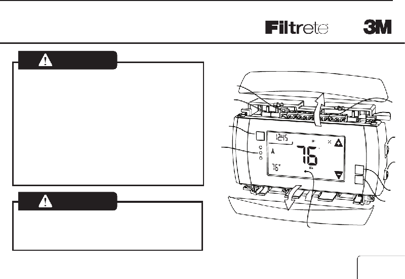 Filtrete 3M-50 Thermostat Install manual PDF View/Download